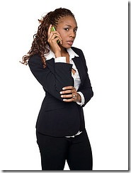 businesswoman - bad phone call