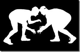 wrestlers-silhouette